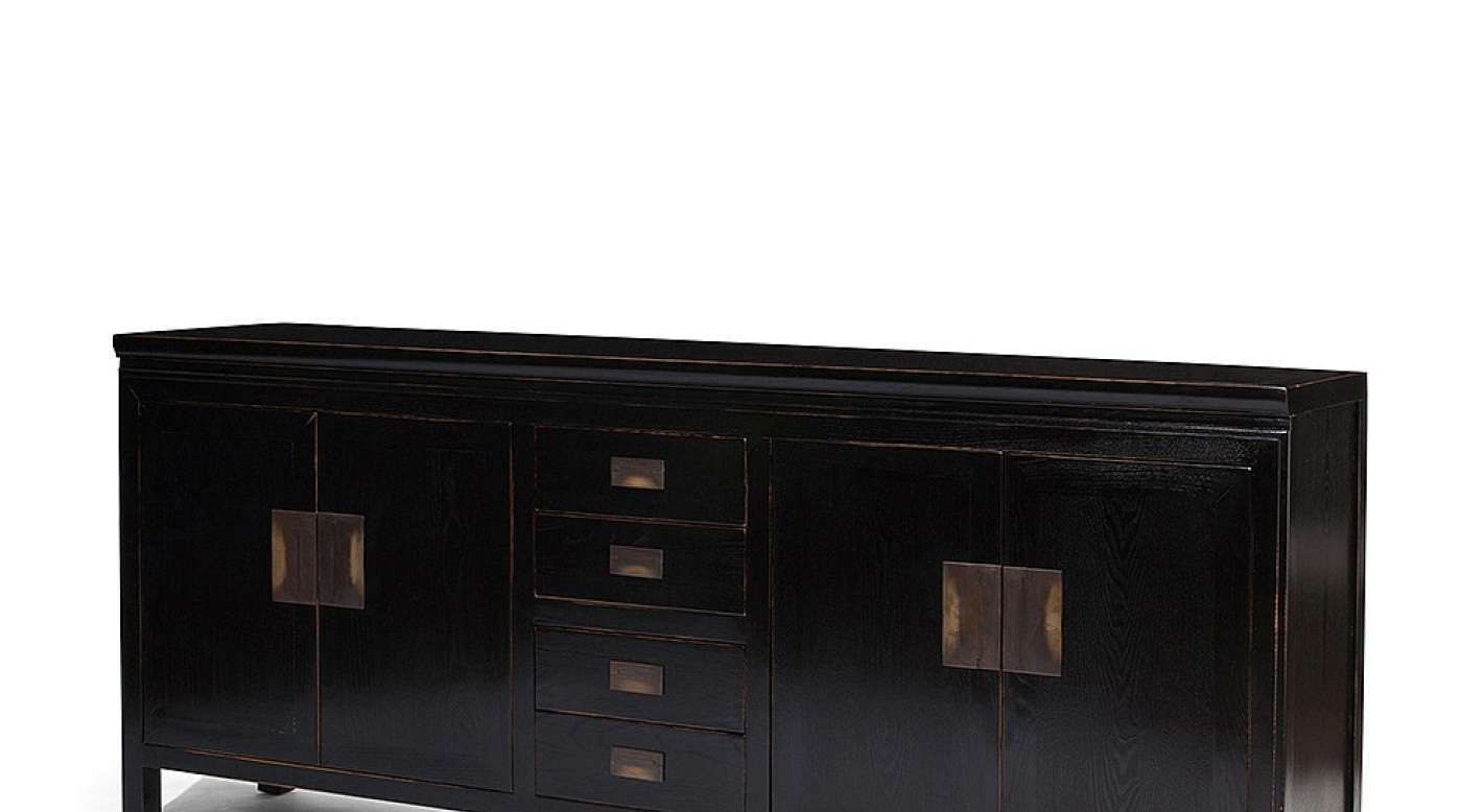 Sideboard : Black Brown Sideboard Bewitch Black Lacquer Sideboard Intended For Black Brown Sideboards (View 14 of 20)