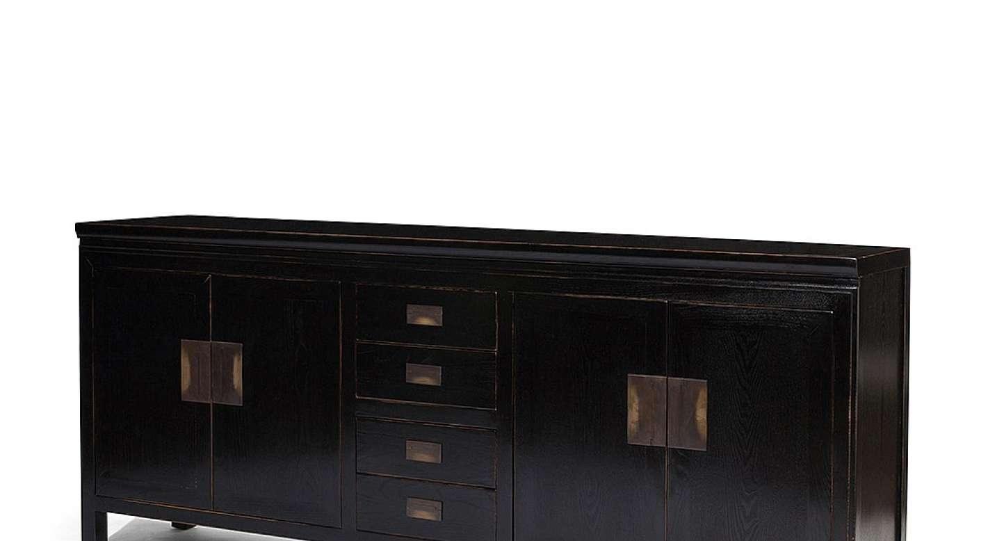 Sideboard : Black Brown Sideboard Bewitch Black Lacquer Sideboard Intended For Black Brown Sideboards (View 17 of 20)
