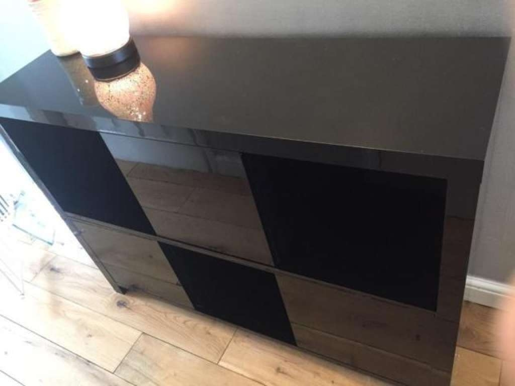 Sideboard Black Gloss Sideboard From Next | In Chapelhall, North With Next Black Gloss Sideboards (View 4 of 20)