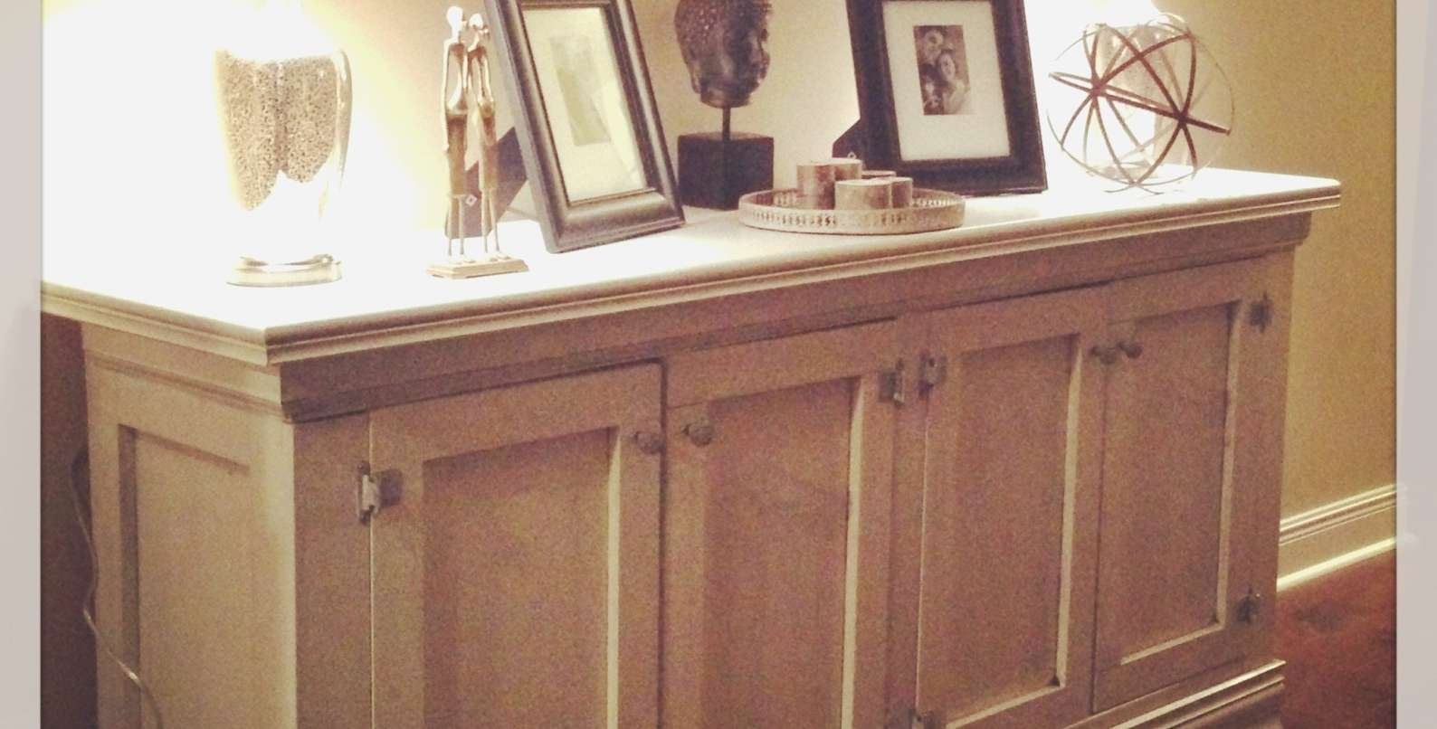 Sideboard : Black Mirrored Buffet Table Console Beautiful Home Regarding Long Thin Sideboards (View 12 of 20)