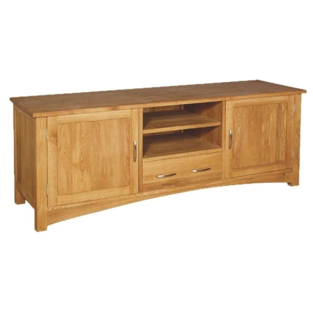 Sideboard Brooklyn Contemporary Oak Low Sideboard | Oak Furniture Inside Low Wooden Sideboards (View 6 of 20)
