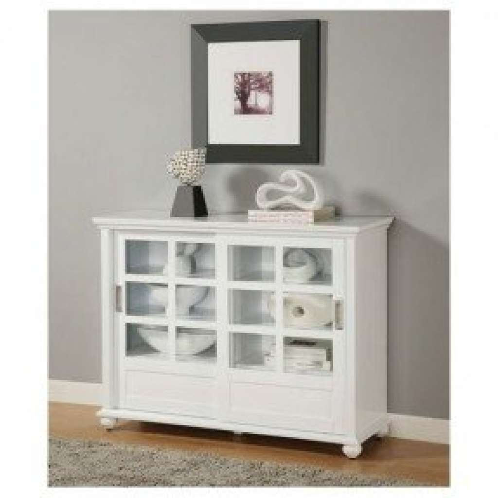 Sideboard Buffet Cabinet With Glass Doors Foter With Regard To Throughout White Sideboards With Glass Doors (View 11 of 20)