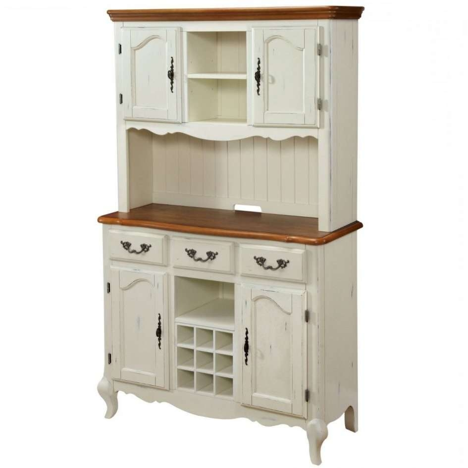 Sideboard Buffet With Wine Rack Kitchen China Cabinet Hutch And Within Country Sideboards And Hutches (View 16 of 20)