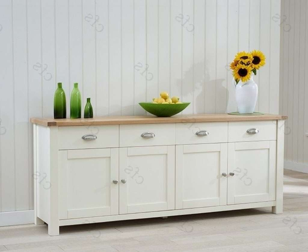 Sideboard Buy Mark Harris Sandringham Oak And Cream Extra Large Regarding Cream And Oak Sideboards (View 16 of 20)