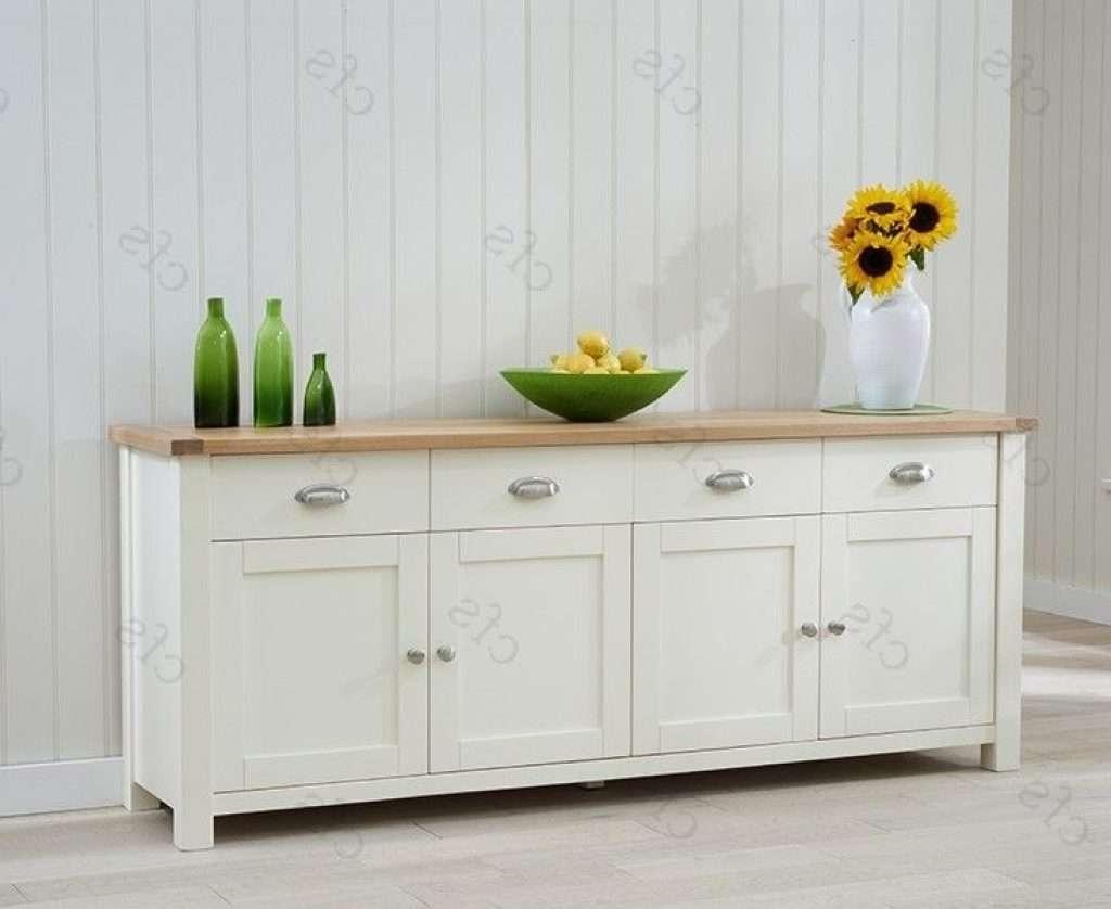 Sideboard Buy Mark Harris Sandringham Oak And Cream Extra Large Regarding Cream And Oak Sideboards (View 19 of 20)