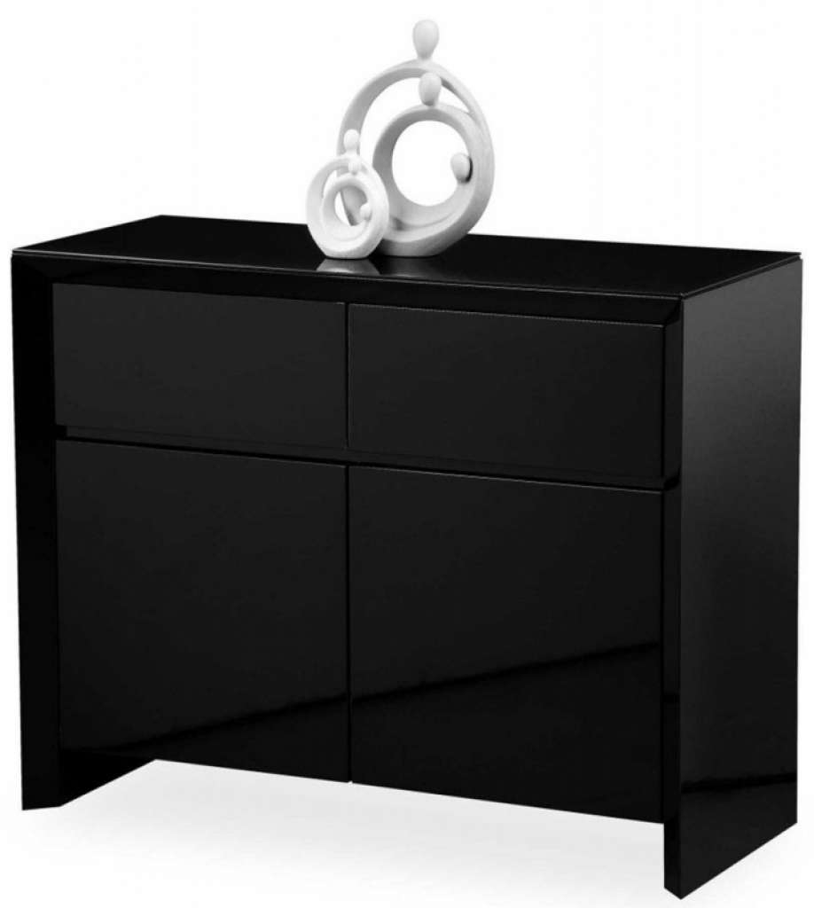 Sideboard Buy Zeus Black High Gloss Small Sideboard Online Cfs Uk Within Black Sideboards (View 18 of 20)