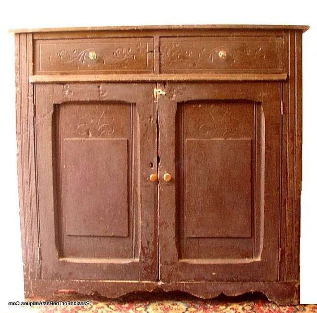 Sideboard Canadiana Country Style Antique Pine Cupboard [Sold Pertaining To Antique Toronto Sideboards (View 14 of 20)