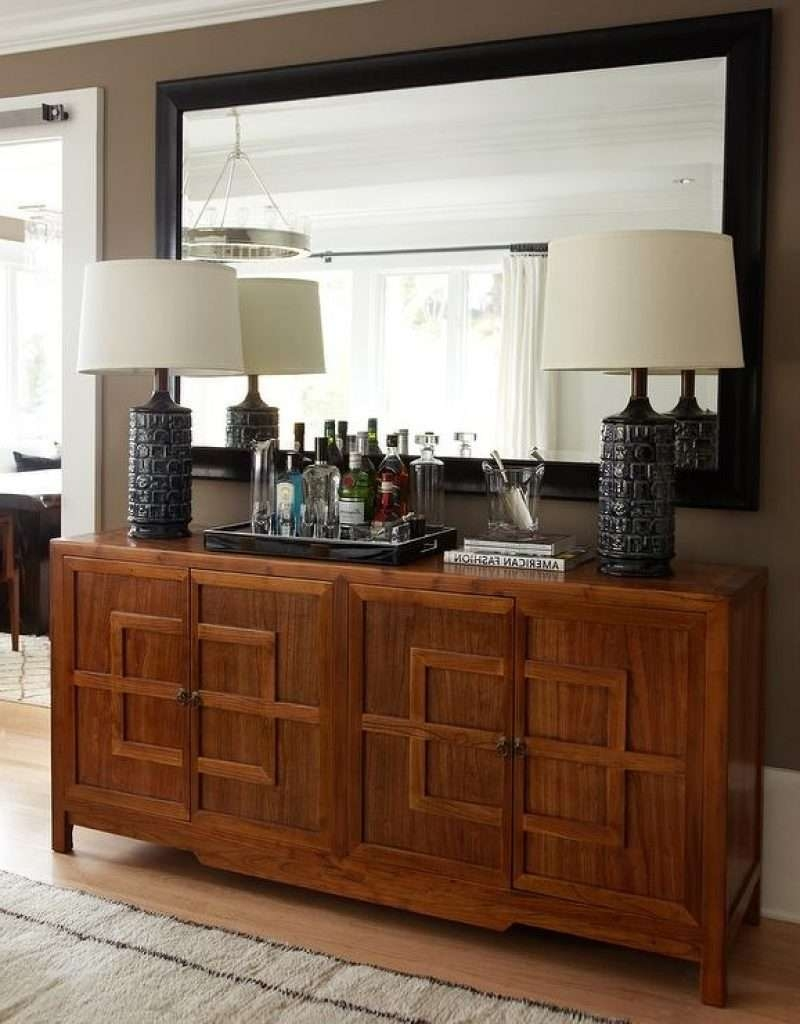 Sideboard Credenza In Foyer For Mirror Over Sideboard Mirror Over Pertaining To Mirror Over Sideboards (View 4 of 20)