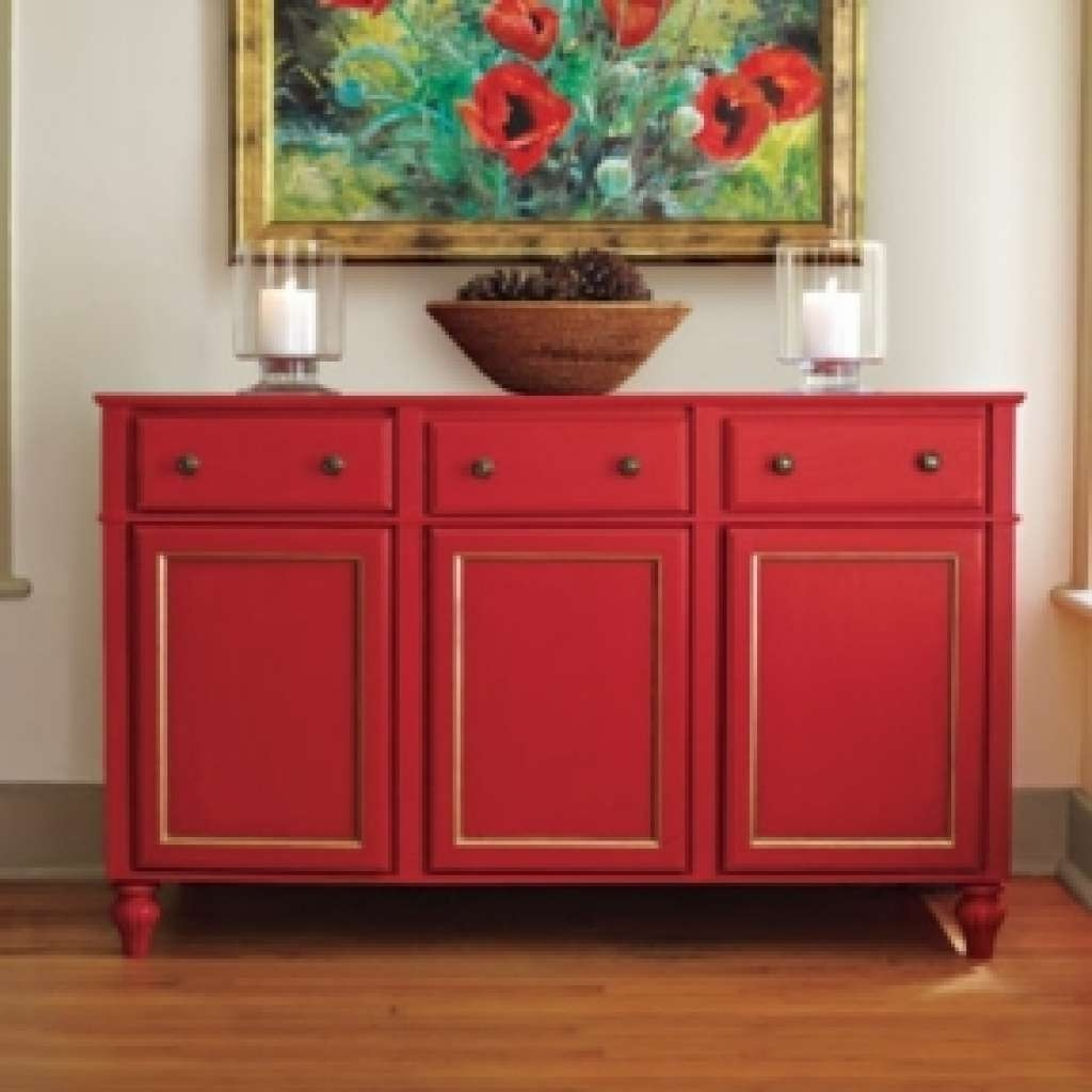 Sideboard Dining Room Buffet Sideboard Foter Regarding Red For Red Sideboards (View 9 of 20)