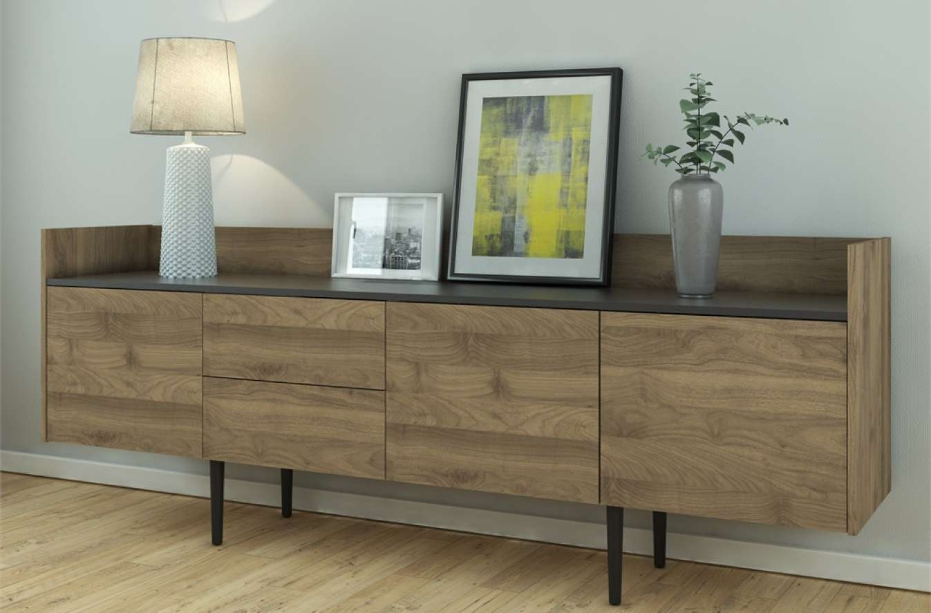 Sideboard : Furniture Mott Modern Sideboard With Buffet Sideboards With 72 Inch Sideboards (View 3 of 20)