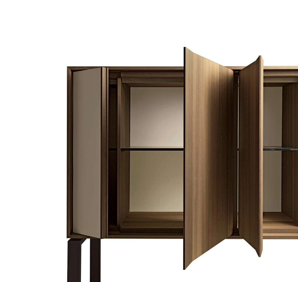 Sideboard Giorgetti Origami Square Tall Sideboard | Deplain Within In Tall Sideboards (View 11 of 20)