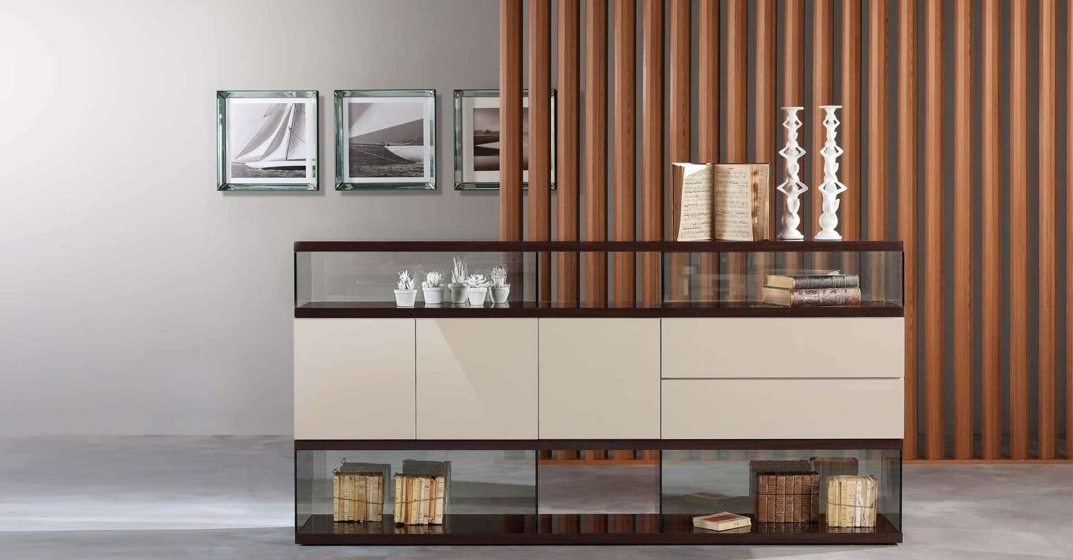 Sideboard : Glass Sideboards For Dining Room Shining Black In Glass Sideboards (View 10 of 20)