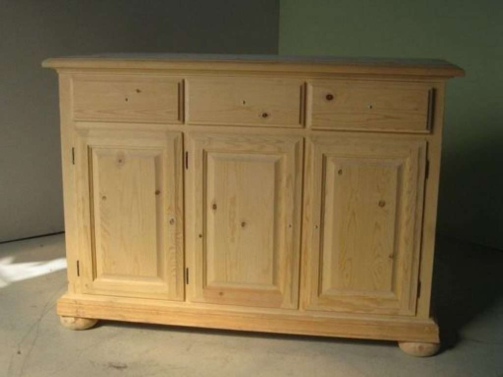 Sideboard Hand Crafted 3 Door Pine Sideboard On Pertaining To Pine Sideboards (View 12 of 20)