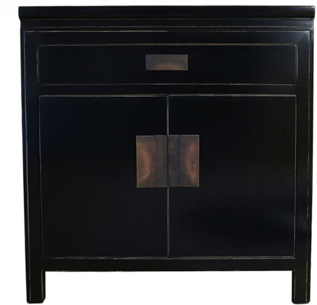 Sideboard Hanoi Black Lacquer Oriental Small Sideboard Within Black Sideboards Cabinets (View 15 of 20)