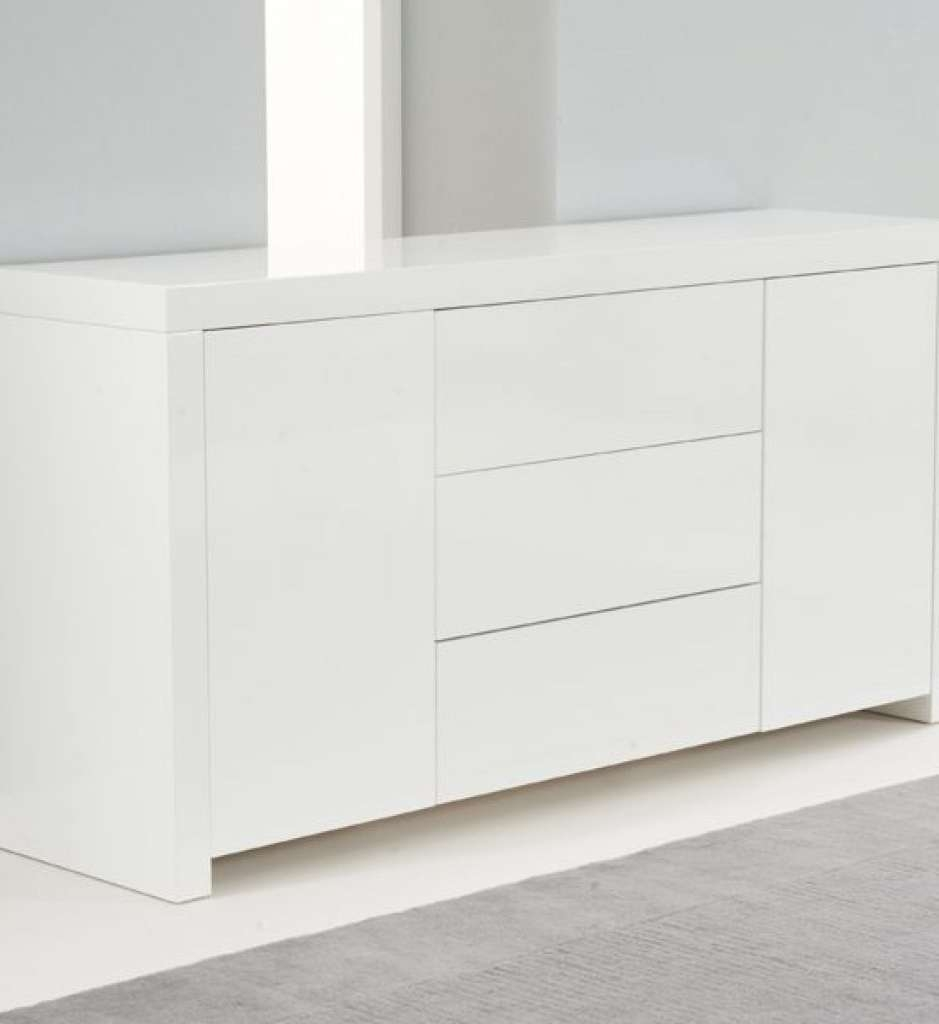 Sideboard Hereford 160Cm White High Gloss Sideboard | Edgehill Intended For Uk Gloss Sideboards (View 12 of 20)