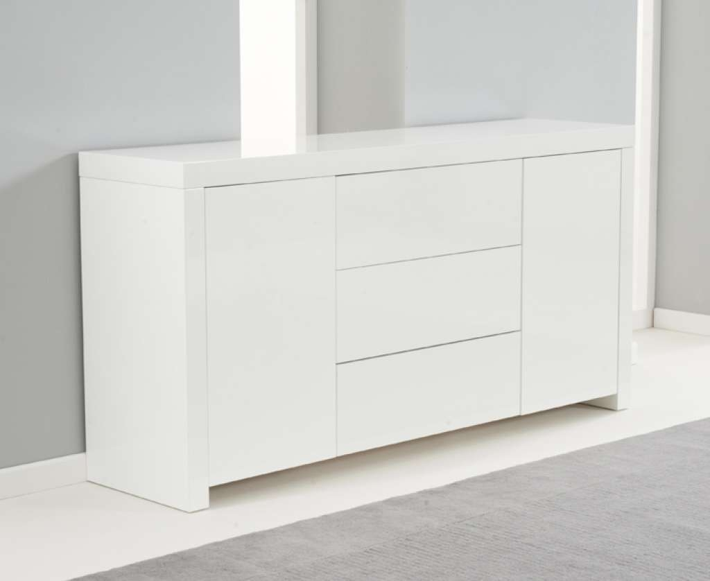 Sideboard Hereford 160Cm White High Gloss Sideboard | Style Our Inside Next Black Gloss Sideboards (View 9 of 20)