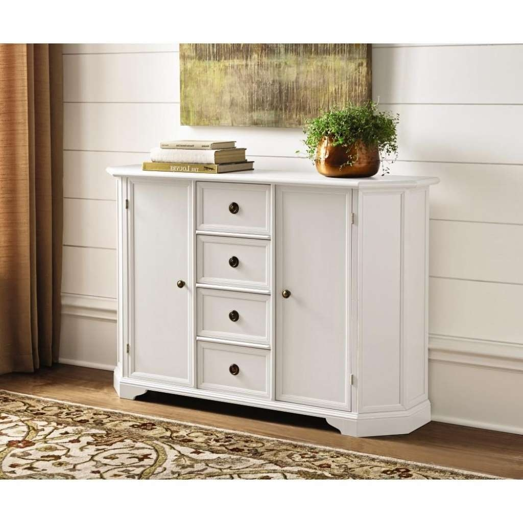 Sideboard Home Decorators Collection Caley Antique White Buffet Intended For Antique White Sideboards (View 8 of 20)