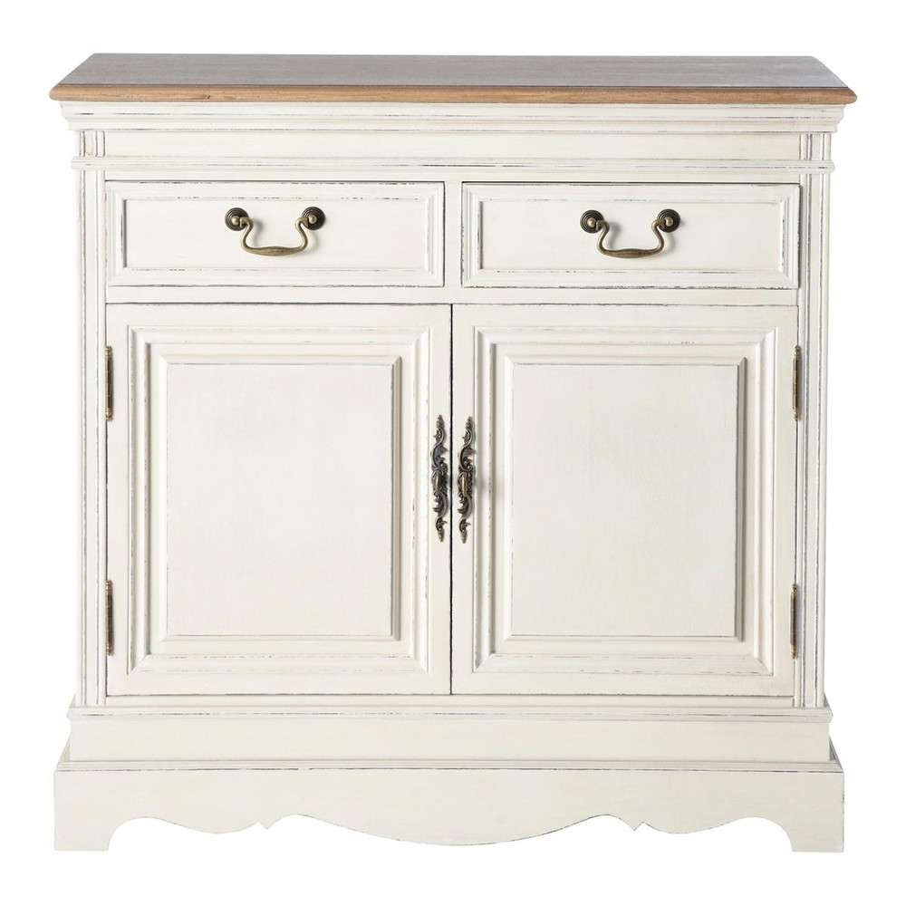 Sideboard In Cream W 90 | Maisons Du Monde Regarding Cream And Oak Sideboards (View 18 of 20)