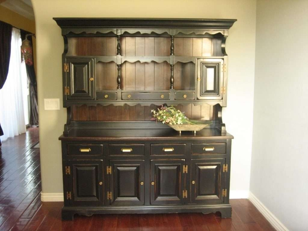 Sideboard Kitchen : Kitchen Hutch Bar Sideboard Buffet Hutch Small Inside Country Sideboards And Hutches (View 3 of 20)