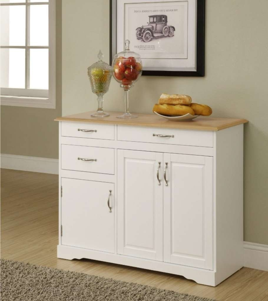Sideboard Kitchen : Small Buffet Hutch Small Kitchen Hutch Buffet For White Sideboards With Glass Doors (View 13 of 20)