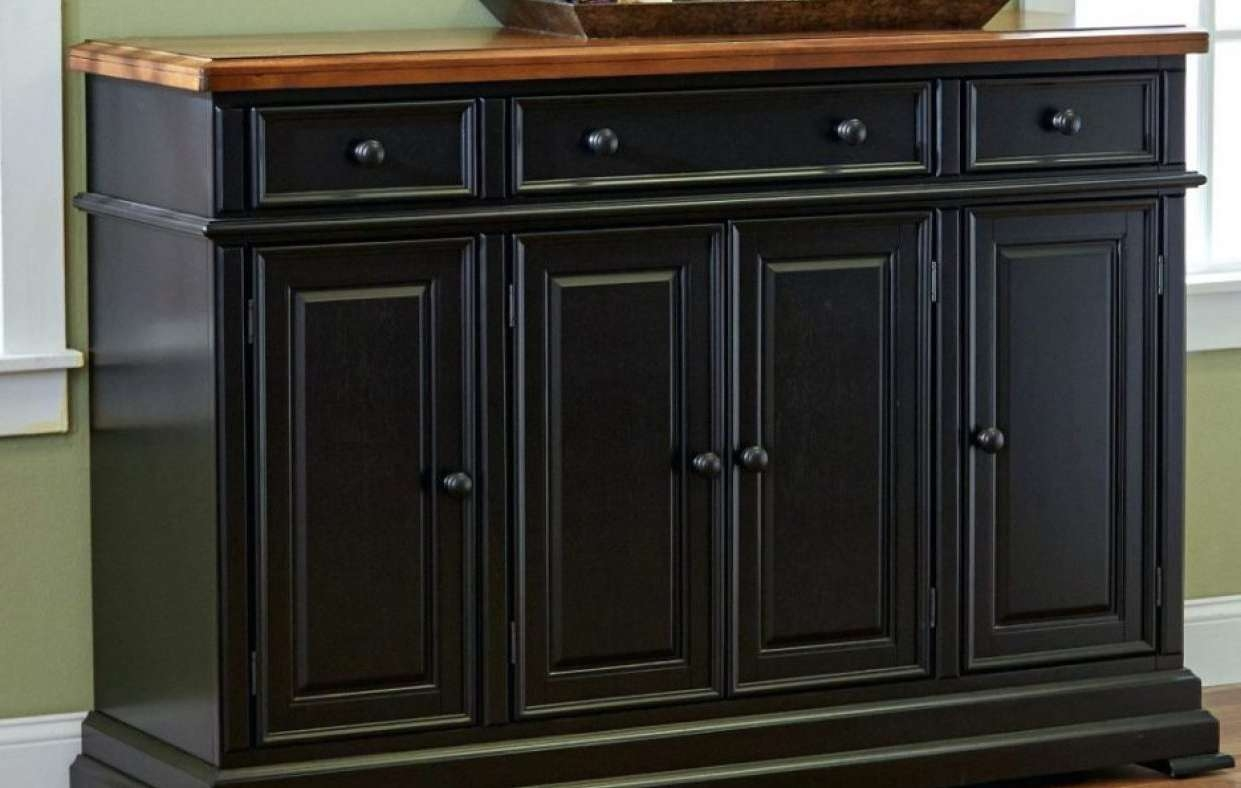 Sideboard : Large Sideboard With Wine Storage Kitchen Hutch Buffet With Regard To 36 Inch Sideboards (View 15 of 20)