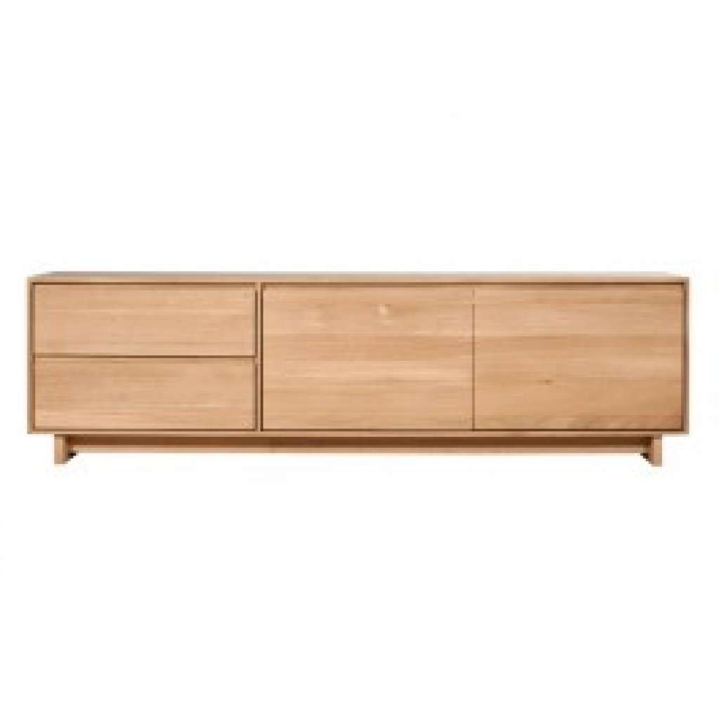 Sideboard Low Oak Sideboards | Wave Sideboard Or Tv Unitethnicraft Pertaining To Low Wooden Sideboards (View 17 of 20)