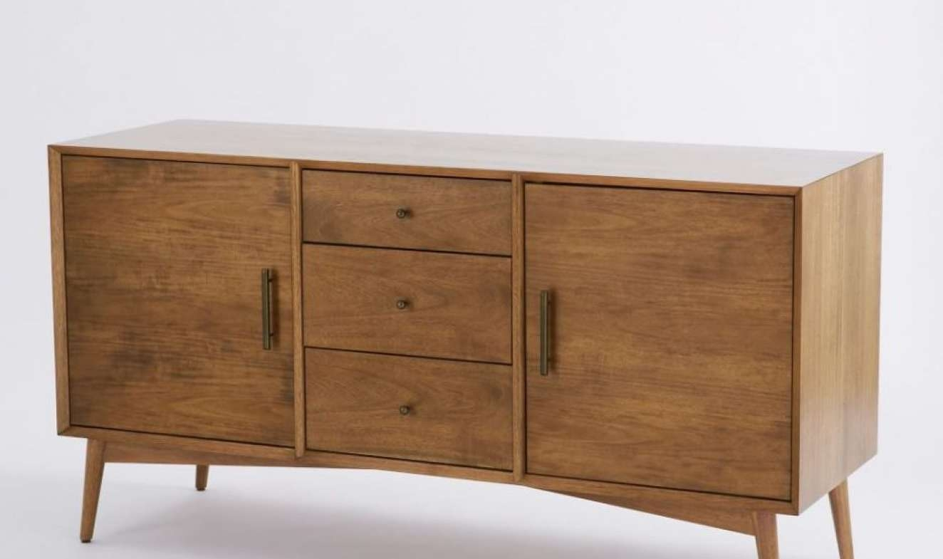 Sideboard : Media Nl Sideboard Console Table Mid Century Large Pertaining To Thin White Sideboards (View 9 of 20)