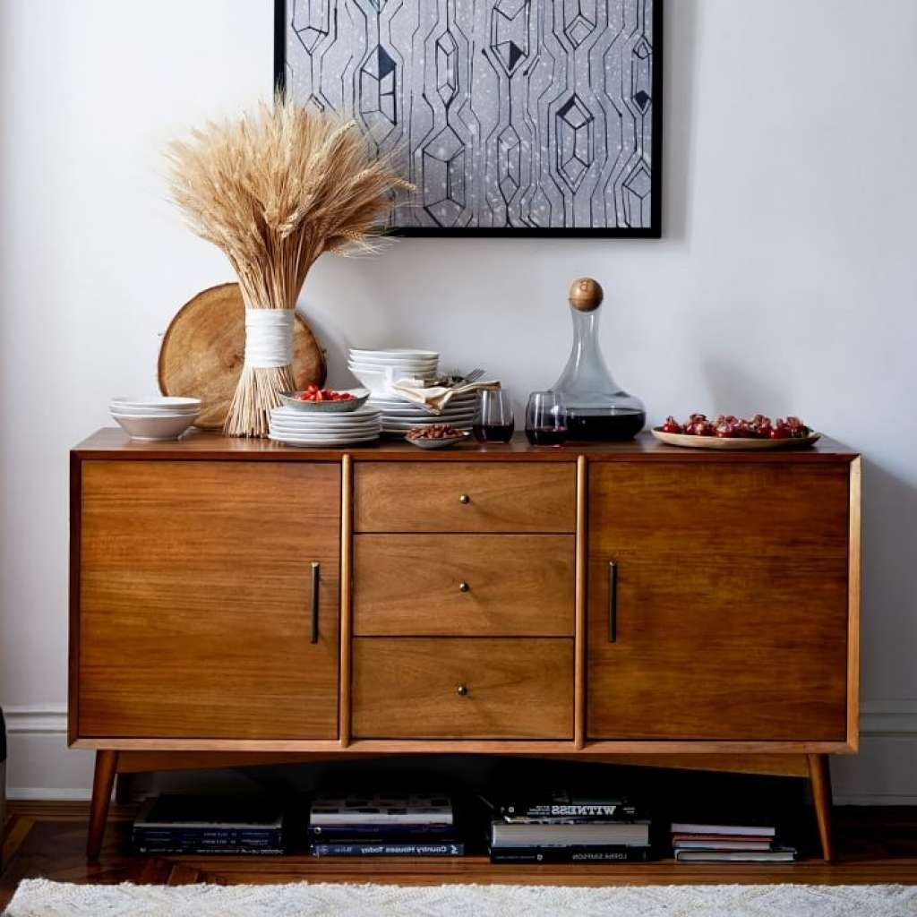 Sideboard Mid Century Buffet Large | West Elm Intended For Large Intended For West Elm Sideboards (View 16 of 20)