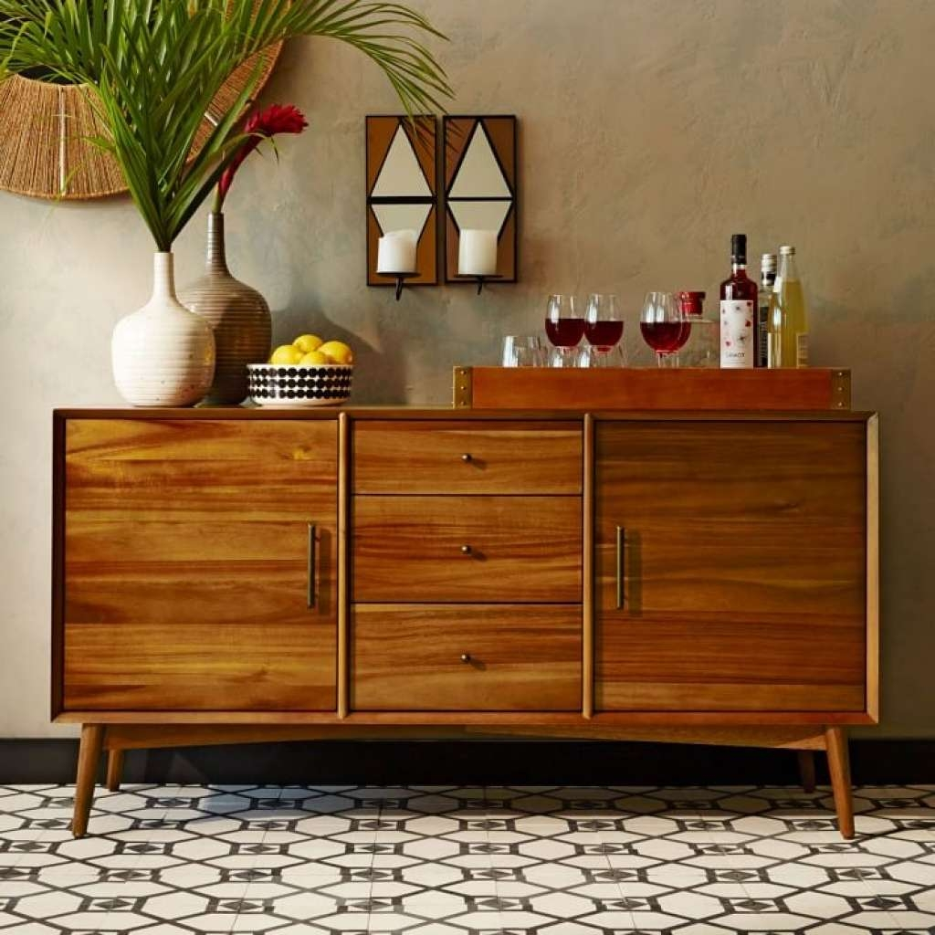 Sideboard Mid Century Buffet Large | West Elm With Regard To Large Pertaining To West Elm Sideboards (View 17 of 20)