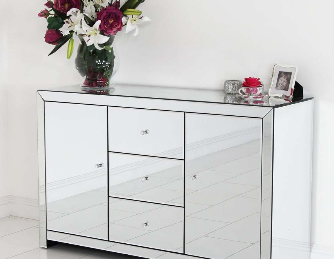 Sideboard : Mirrored Buffet Cabinet Home Design Elegant Sideboards Pertaining To Elegant Sideboards (View 6 of 20)