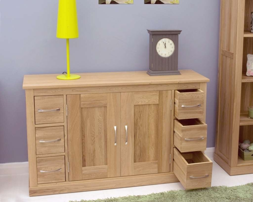 Sideboard Mobel Oak Sideboard With 6 Drawers Mobel Oak Pertaining Regarding Slim Oak Sideboards (View 4 of 20)