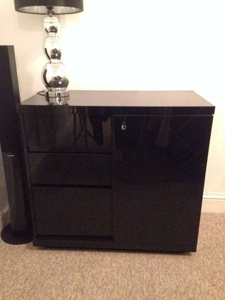 Sideboard Next Black Gloss Sideboard Unit | In Basildon, Essex With Next Black Gloss Sideboards (View 3 of 20)
