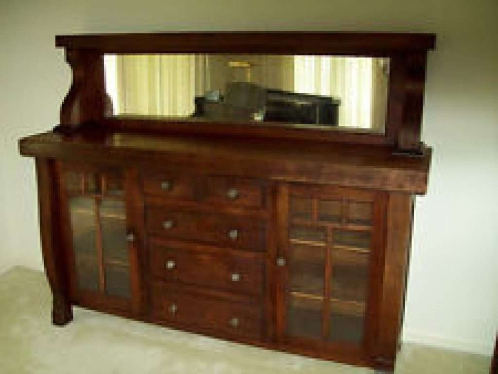 Sideboard Oak America Antique Sideboards & Buffets (1900 1950 Regarding Antique Sideboards With Mirror (View 17 of 20)