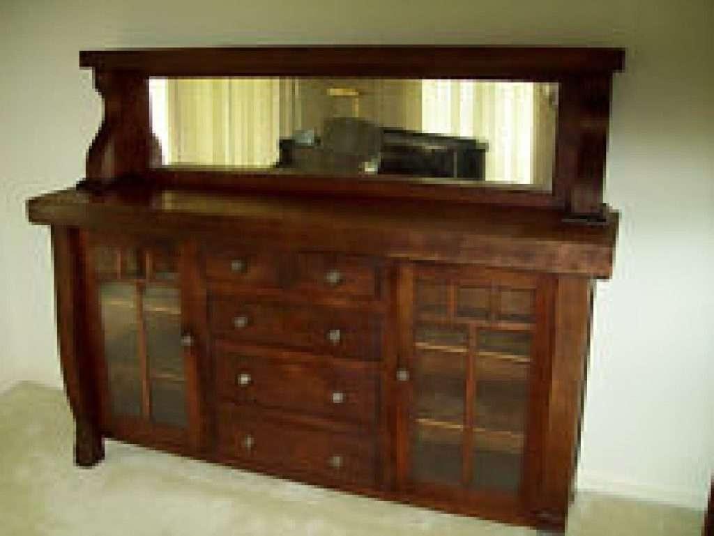 Sideboard Oak America Antique Sideboards Buffets 1900 1950 Regarding With Mirror