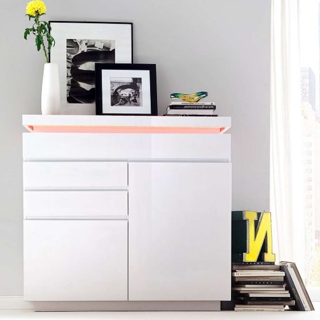 Sideboard Odessa Small Sideboard 3 Drawer In High Gloss White With With High White Gloss Sideboards (View 17 of 20)