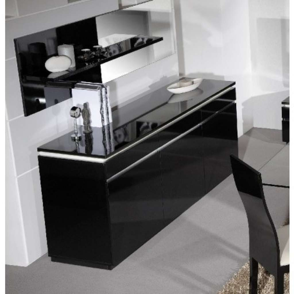 Sideboard Orde Black High Gloss Sideboard With Lights Sideboards Intended For Sideboards With Lights (View 13 of 20)