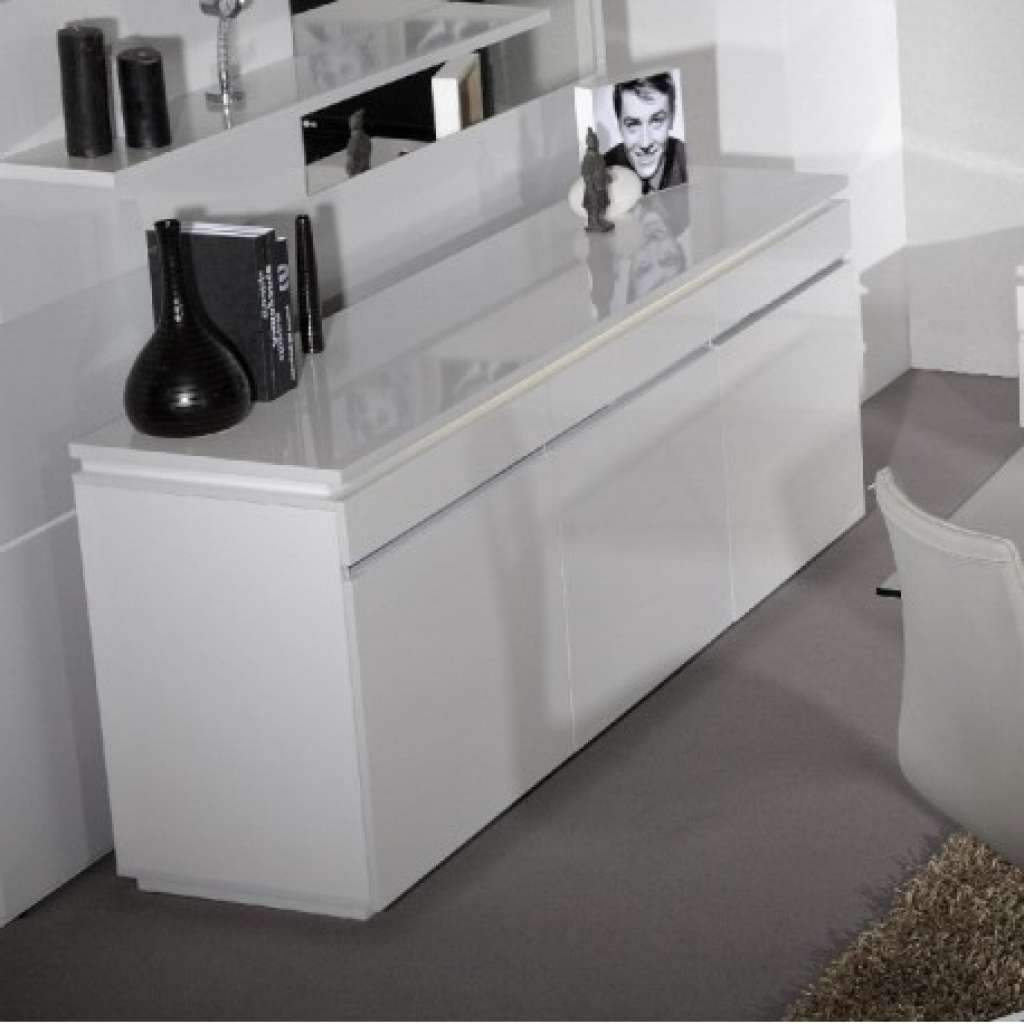 Sideboard Orde White High Gloss Sideboard With Lights Sideboards Intended For Sideboards With Lights (View 5 of 20)