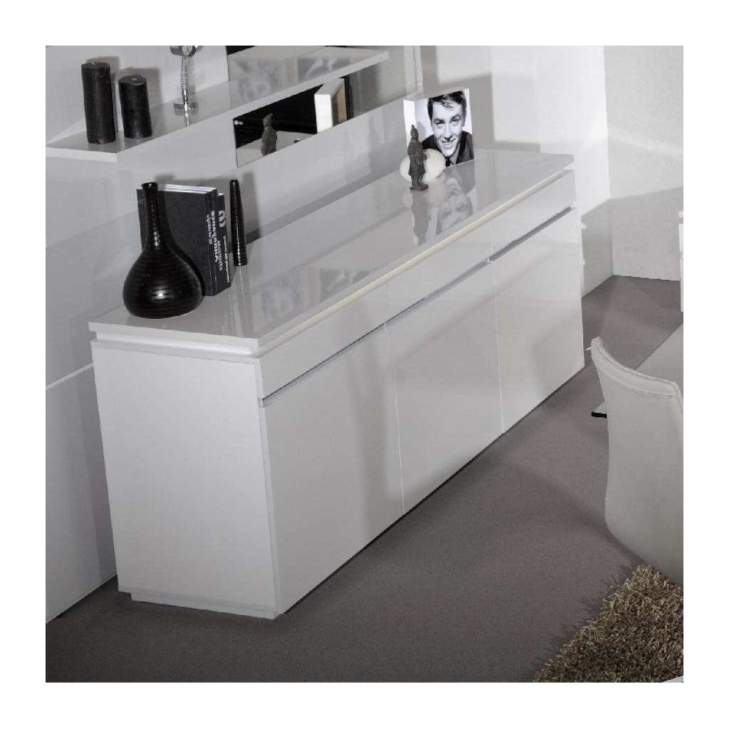 Sideboard Orde White High Gloss Sideboard With Lights Sideboards With Sideboards With Lights (View 4 of 20)