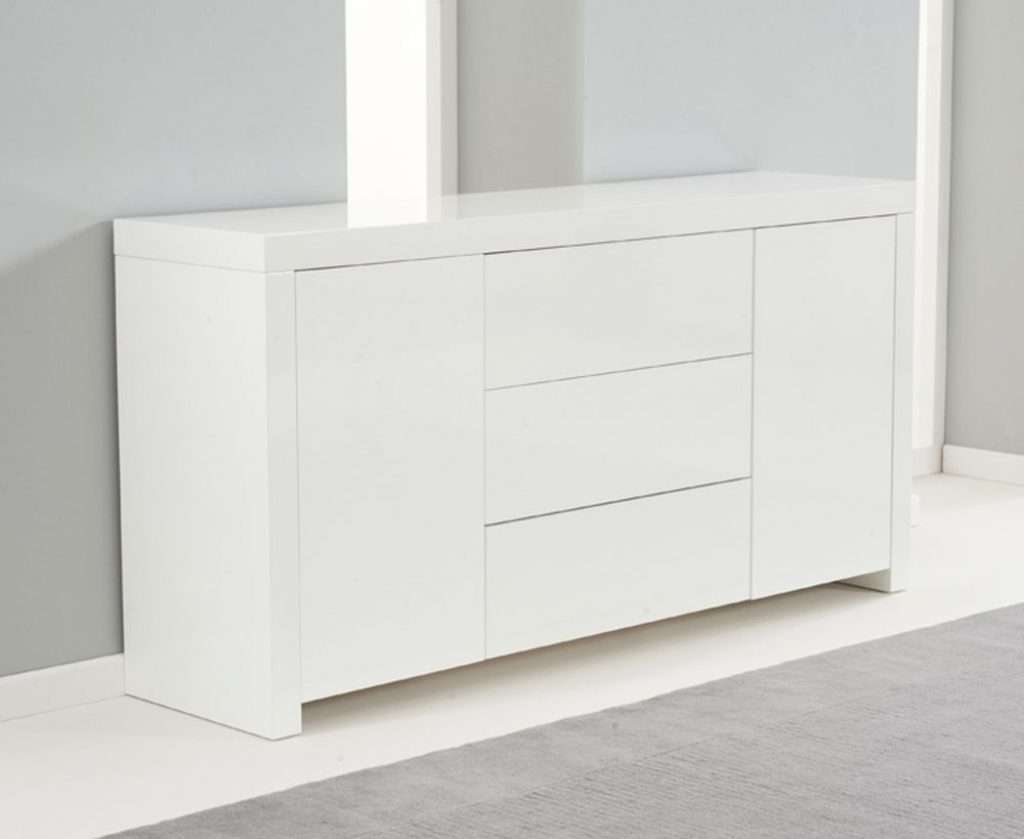 Sideboard Ornella White High Gloss Sideboard Within White High Intended For White High Gloss Sideboards (View 17 of 20)