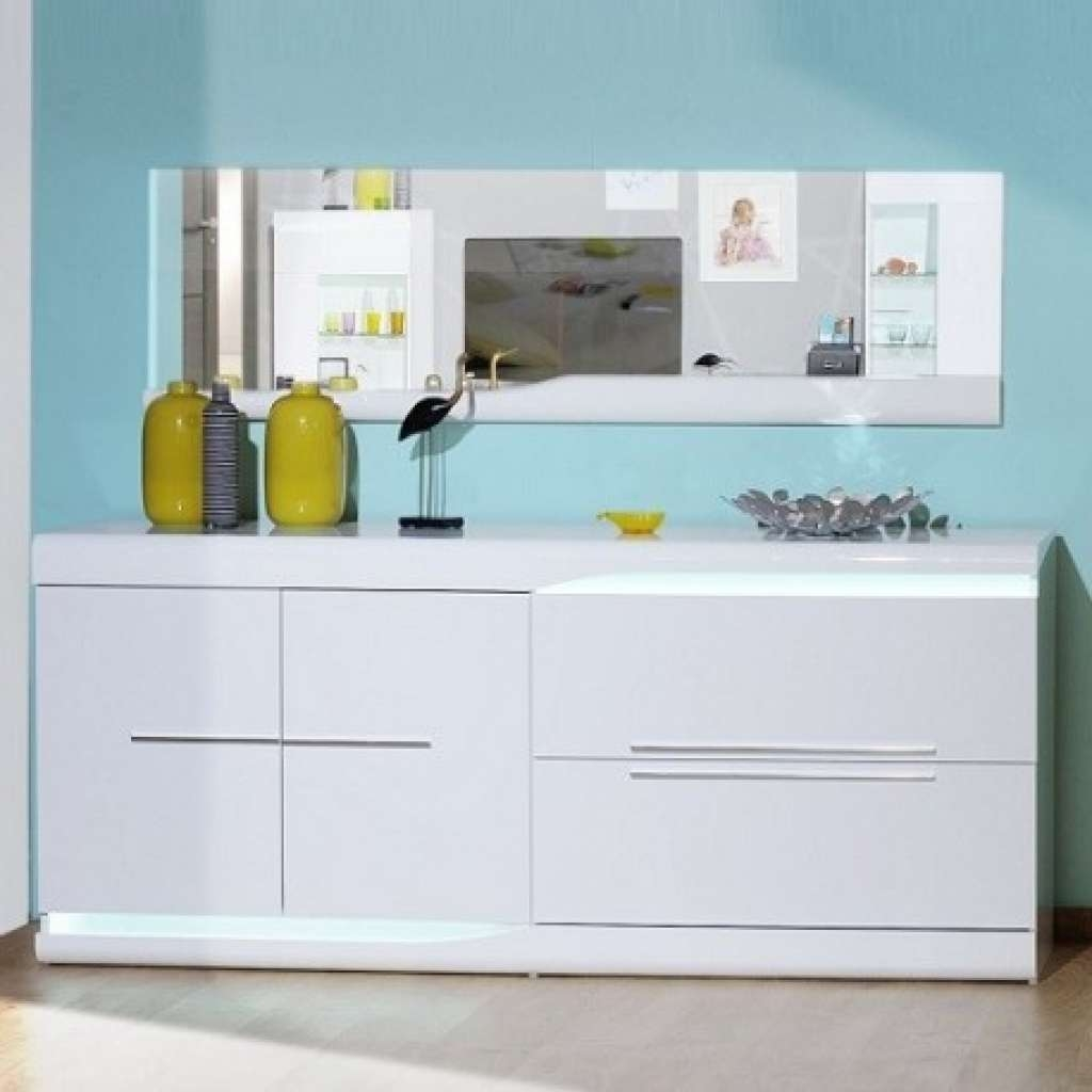 Sideboard Ovio White Gloss Sideboard With Led Lights Sideboards Throughout Sideboards With Lights (View 6 of 20)