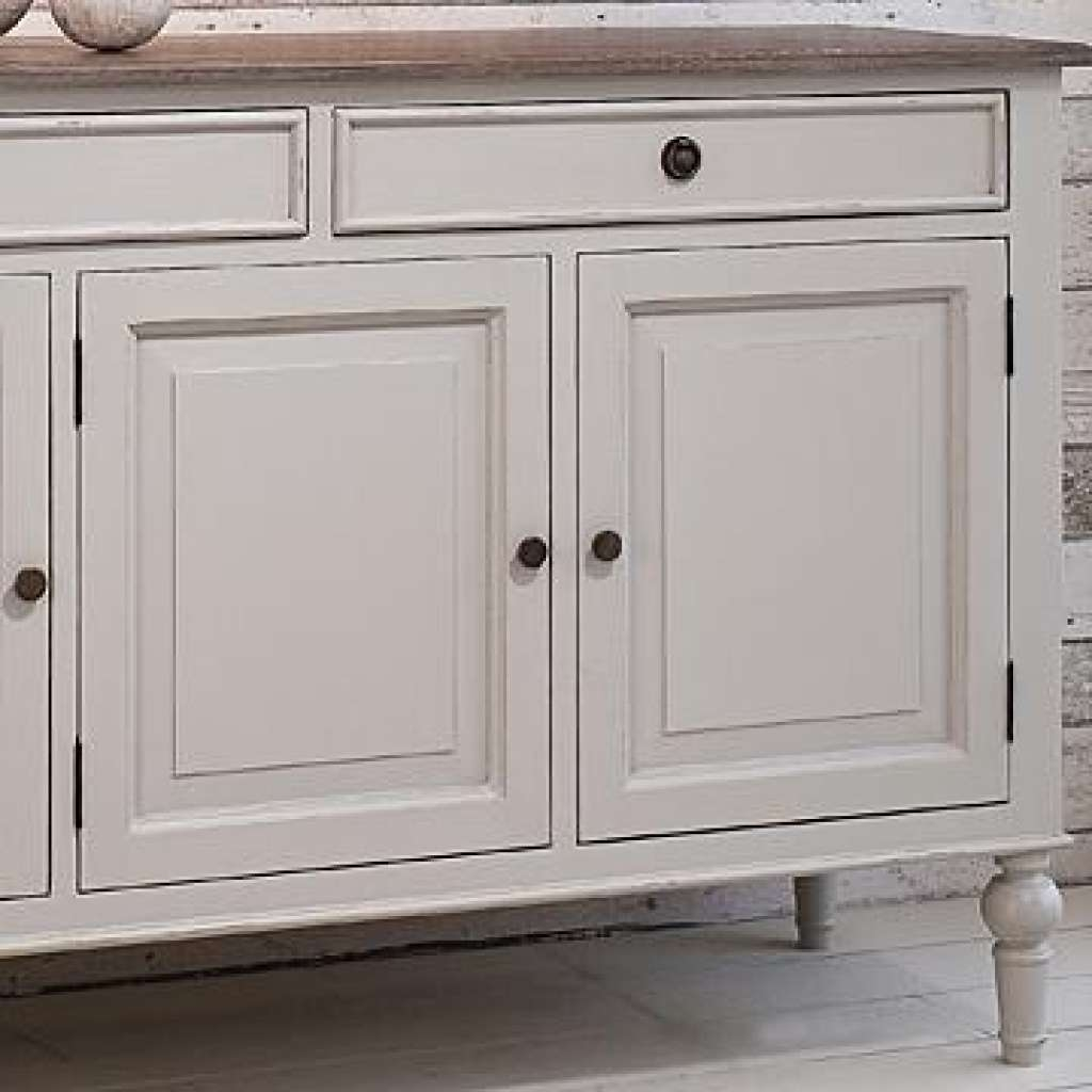 Sideboard Painted Sideboard With Wooden Top Light Grey With Grey Sideboards (View 11 of 20)