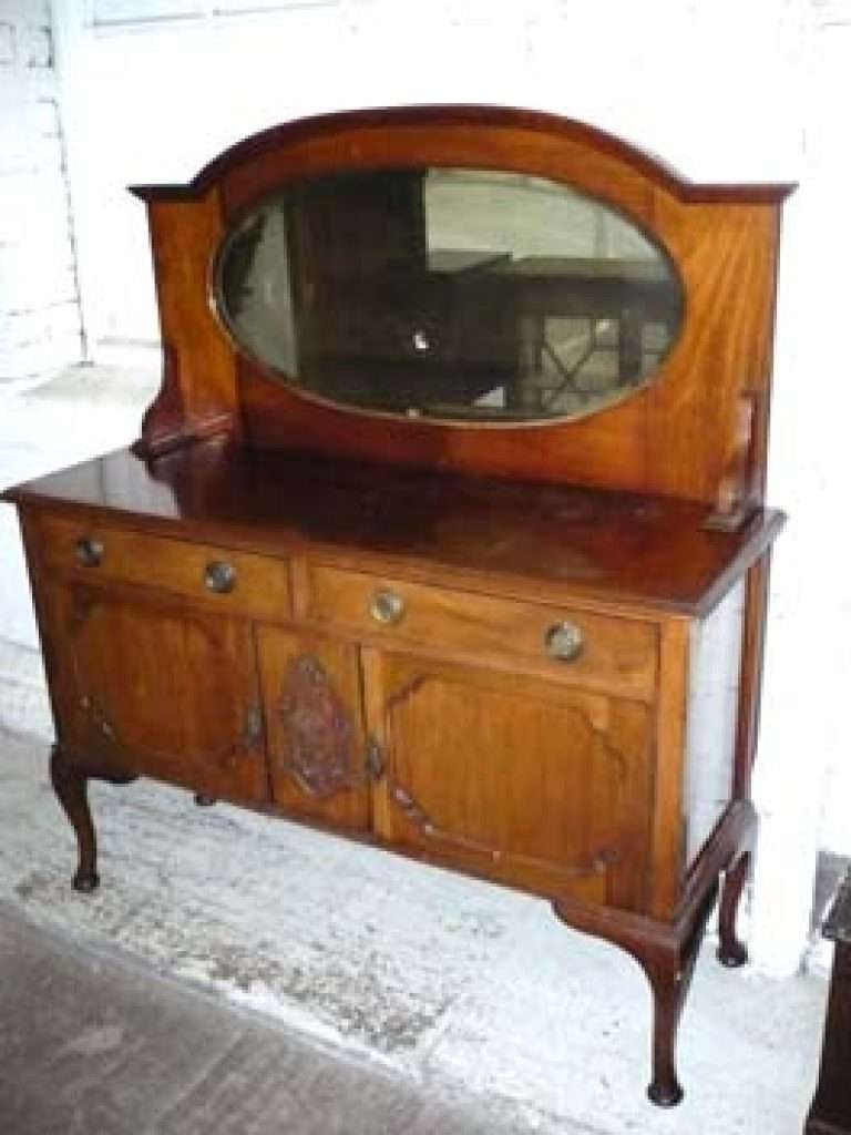 Sideboard Peter Smith Antiques Sideboards Inside Antique Within With Mirror View 15 Of