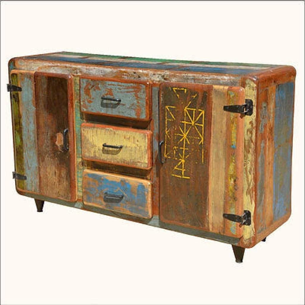 Sideboard Reclaimed Wood Buffets & Sideboards Collection On Ebay In Reclaimed Sideboards (View 15 of 20)