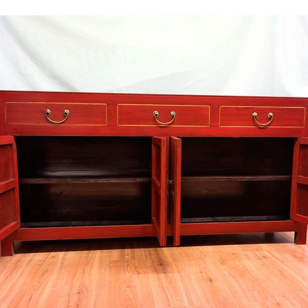 Sideboard Red Sideboard Buffet Modern — New Decoration : Red Within Red Sideboards (View 17 of 20)