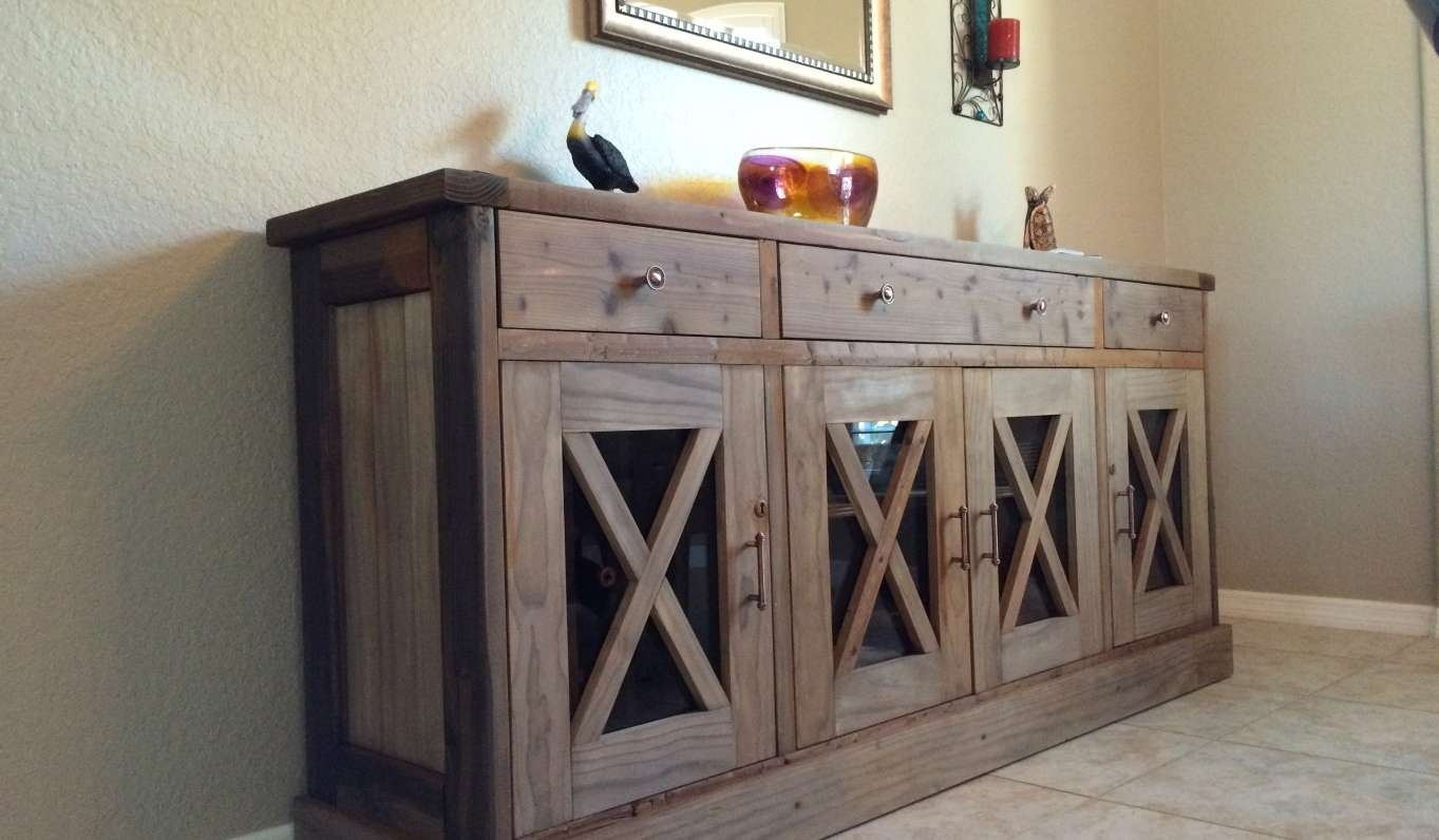 Sideboard : Rustic Sideboard Beautiful Farmhouse Buffet Table Intended For Rustic Sideboards And Buffets (View 15 of 20)