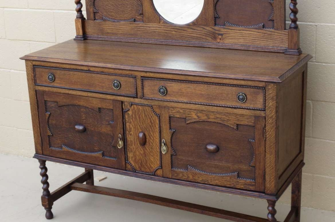 Sideboard : Small Antique Buffet Cabinet Amazing Antique Sideboard Regarding Small Narrow Sideboards (View 11 of 20)