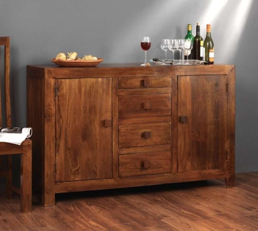 Sideboard Solid Mango Wood Sideboard With Drawers | Casa Bella With Indian Sideboards Furniture (View 20 of 20)