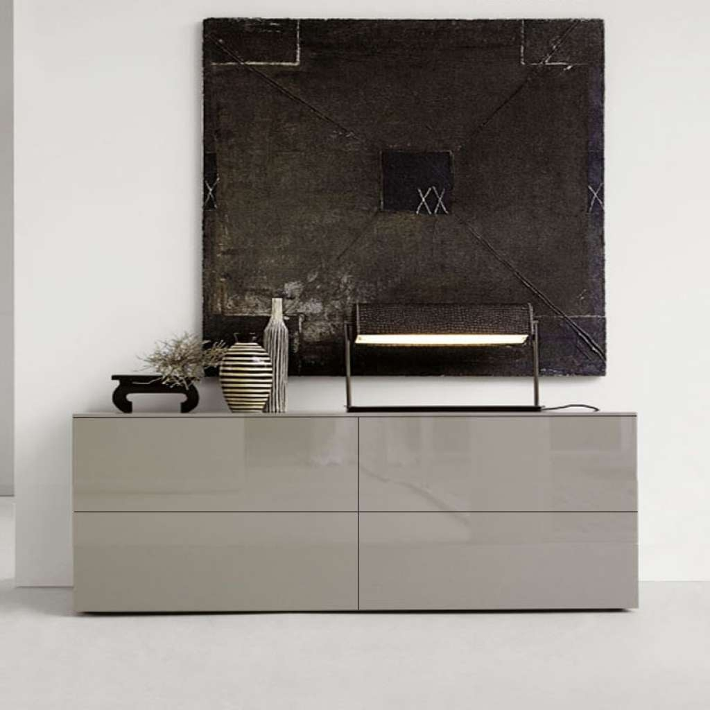 Sideboard Space Taupe High Gloss Sideboard For High Gloss With Uk Gloss Sideboards (View 16 of 20)