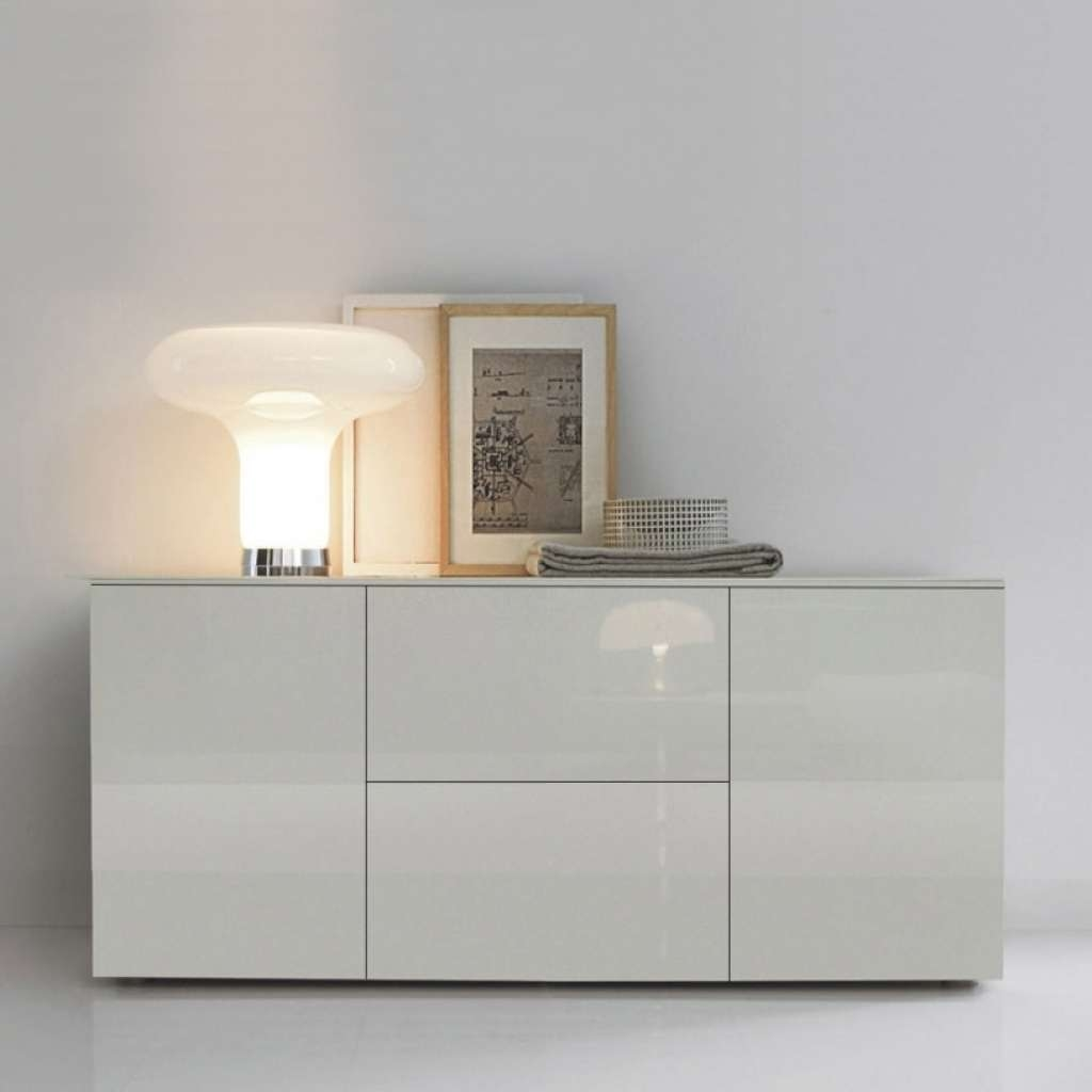 Sideboard Space White Gloss Sideboard 150cm For High Gloss Grey Inside High Gloss Grey Sideboards (View 6 of 20)