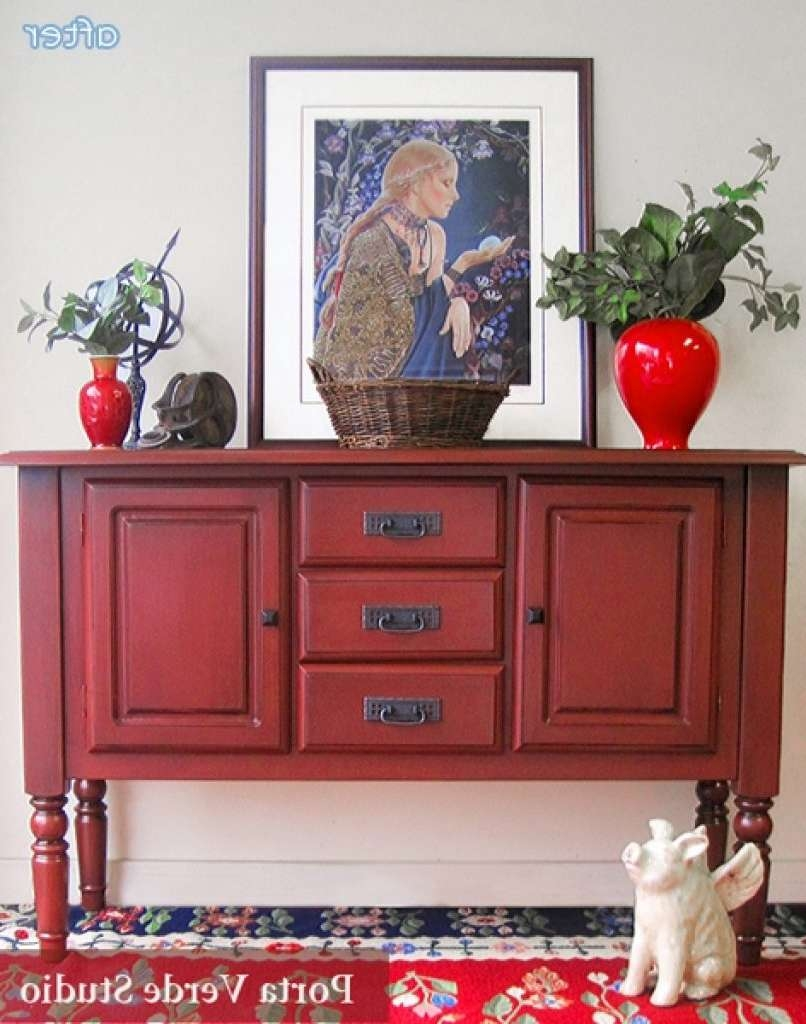 Sideboard Thinking Pink, Seeing Red Better After With Red For Red Sideboards Buffets (View 14 of 20)